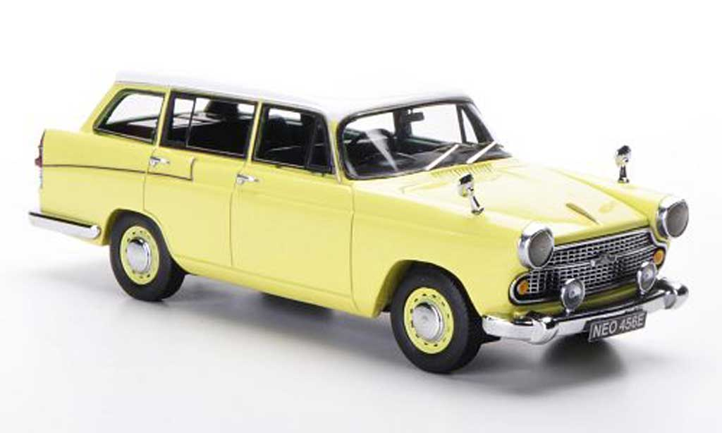 Austin Cambridge 1/43 Neo Traveller jaune/blanche RHD 1966 miniature
