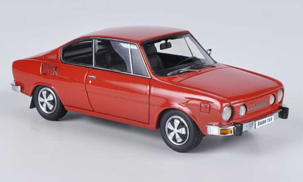 Skoda 110 1/43 Neo Coupe rouge 1972 miniature