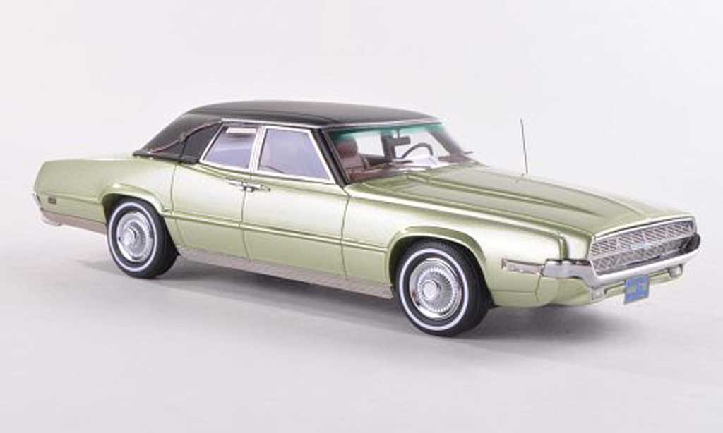 Ford Thunderbird 1969 1/43 Neo Landau vert/lumineuses-noire miniature
