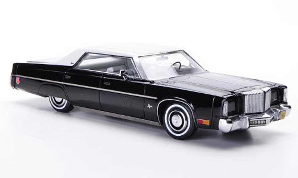 Chrysler Imperial 1/43 Neo 4-Door Hardtop Sedan noire/blanche 1975 miniature