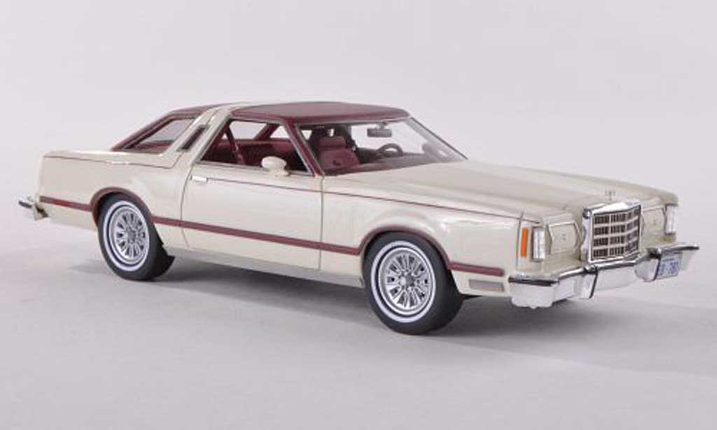 Ford Thunderbird 1979 1/43 Neo white/black-red diecast model cars