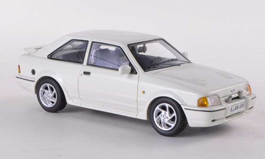Ford Escort MK4 1/43 Neo Turbo white 1986 diecast model cars