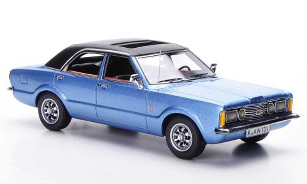 Ford Taunus 1973 1/43 Neo GXL bleu/mattnoire 4-Turer miniature