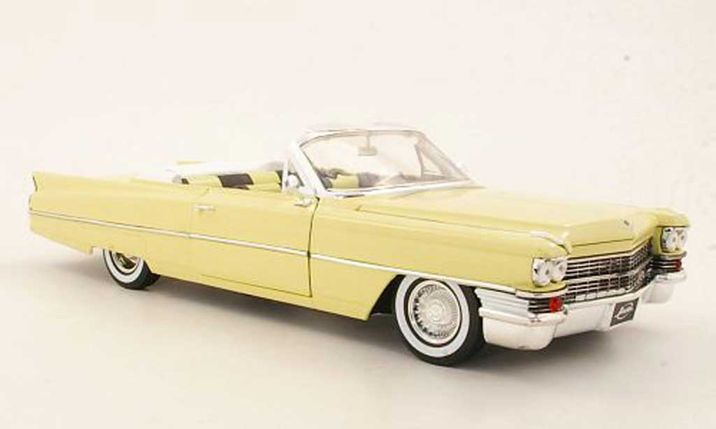 Cadillac Deville 1/18 Jada Toys Convertible yellow 1963