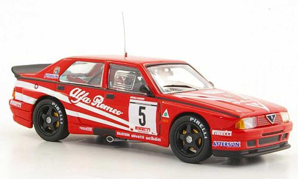 Alfa Romeo 75 Evoluzione 1/43 M4 No.5 M.Alboreto Rally Monza 1988 diecast