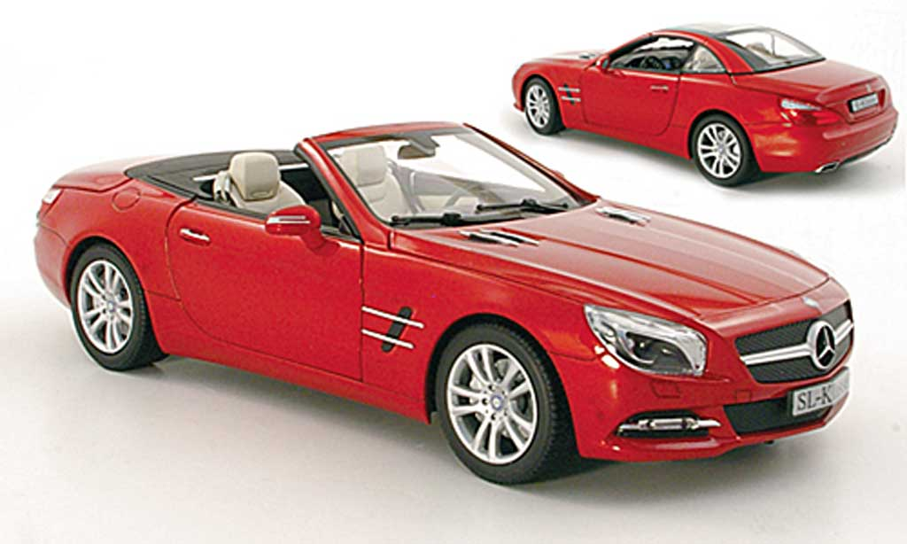 Mercedes Classe SL 1/18 Norev (R231) red 2012 diecast model cars