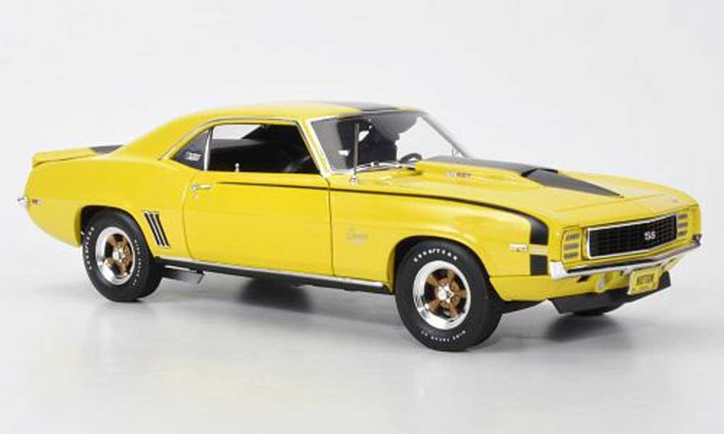 Chevrolet Camaro SS 1/18 Highway 61 1969 427 Baldwin Motion jaune/noire miniature