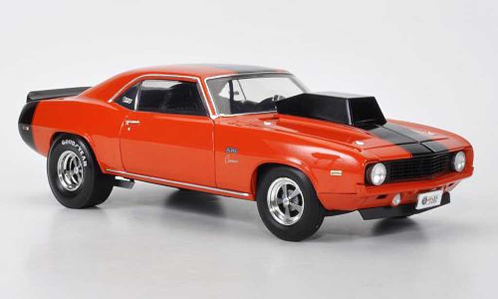 Chevrolet Camaro SS 1/18 Highway 61 Baldwin Motion Pro Stock orange/noire 1969 miniature