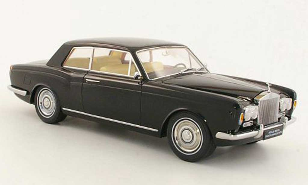Rolls Royce Silver Shadow 1/18 Paragon Mulliner Park Ward Two-Door Coupe noire LHD 1968 miniature