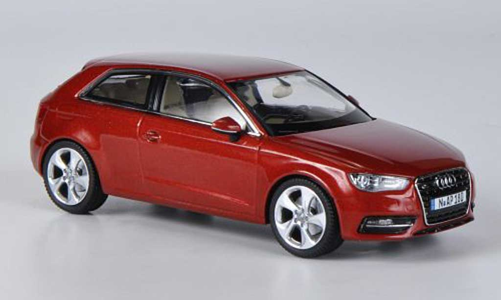 Audi A3 1/43 Schuco red 2012 diecast model cars