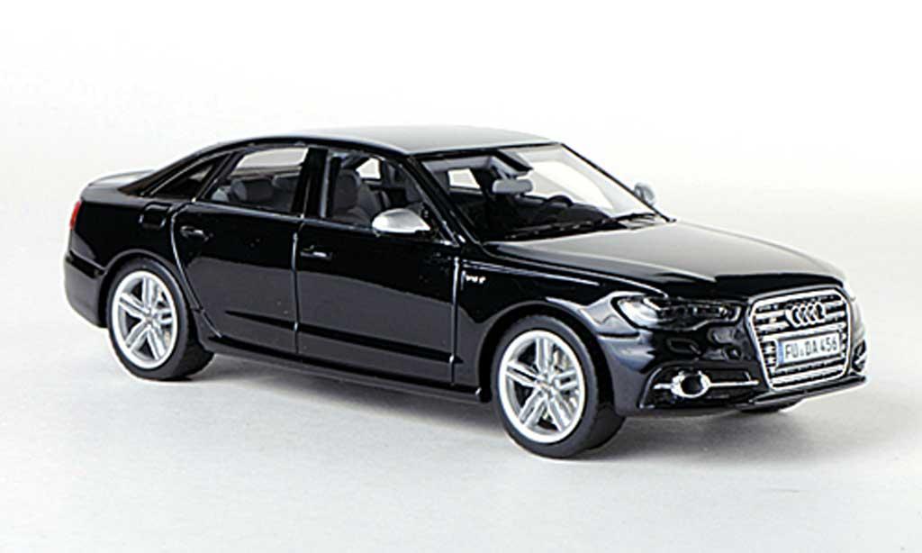 Audi S6 1/43 Schuco (C7) noire 2012 miniature