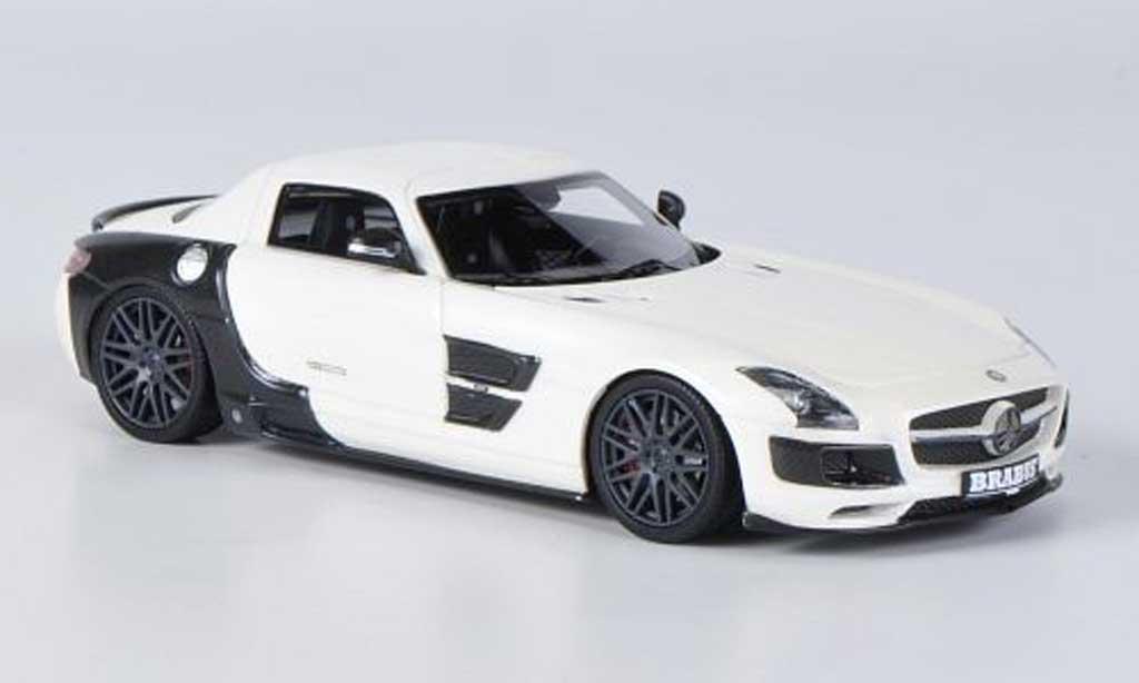 Mercedes 700 Biturbo 1/43 Schuco Brabus blanche/noire miniature