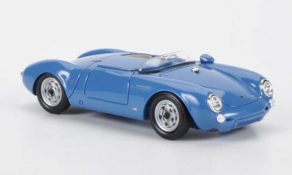 Porsche 550 1/43 Schuco Spyder bleu/blanche miniature