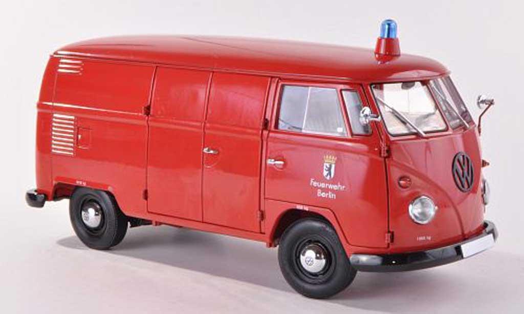 Volkswagen T1 1/18 Schuco Kasten Feuerwehr Berlin  diecast