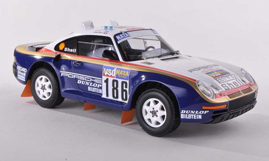 Porsche 959 1986 1/43 TrueScale Miniatures /50 No.186 Rothmans Rally Dakar R.Metge/D.Lemoyne diecast model cars