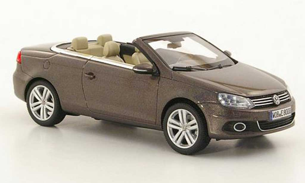 Volkswagen Eos 1/43 Kyosho marron 2011 miniature