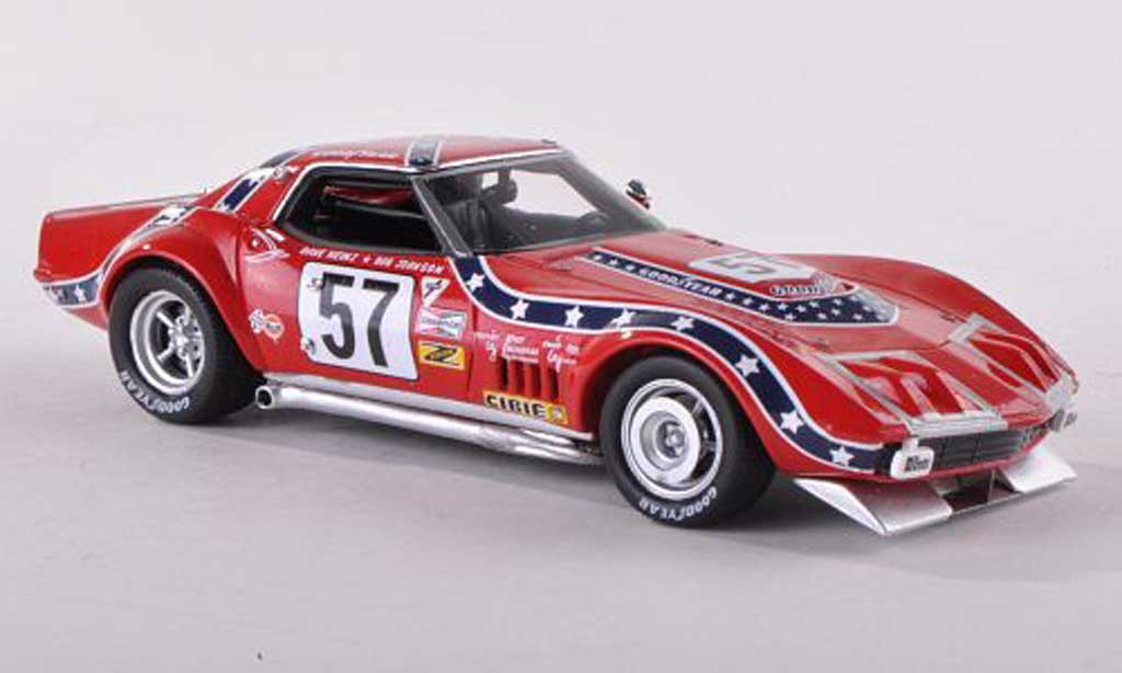 Chevrolet Corvette C3 1/43 TrueScale Miniatures L88 No.57 12h Sebring D.Heinz/B.Johnson 1972 diecast model cars