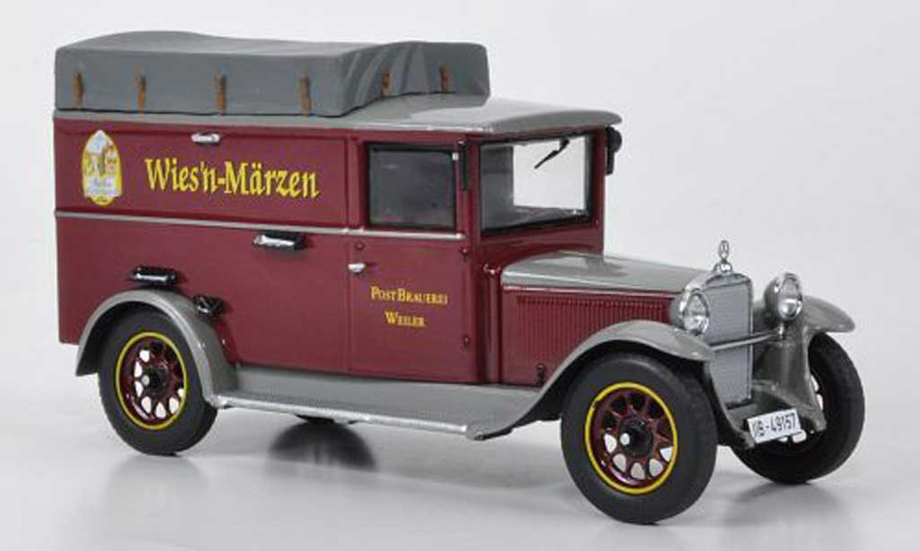 Mercedes L1000 1/43 Premium ClassiXXs Express avec Dachplane Postbrauerei Weiler miniature