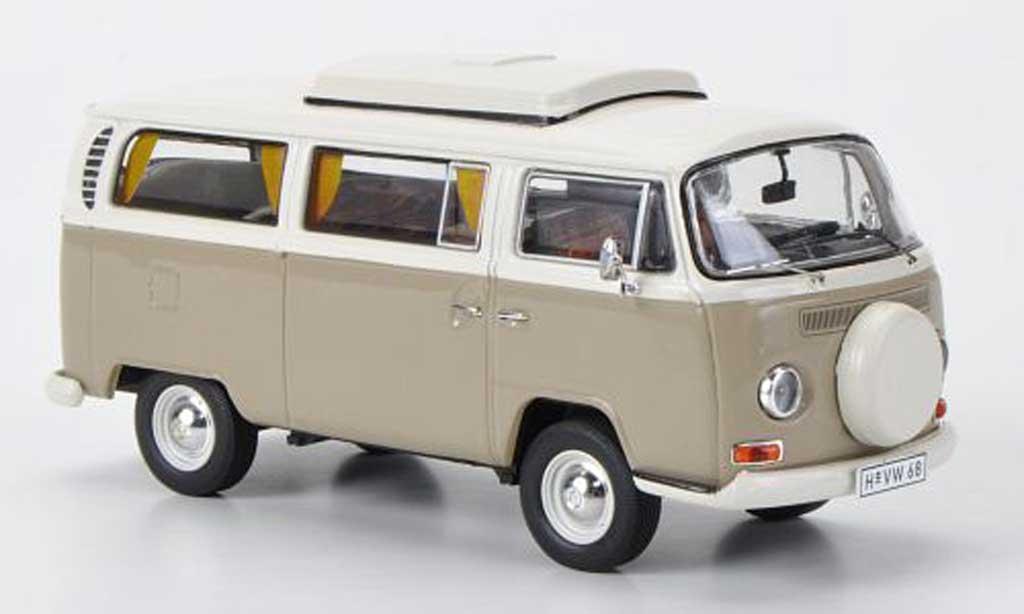 Volkswagen T2 A 1/43 Premium ClassiXXs Camping beige/blanche miniature