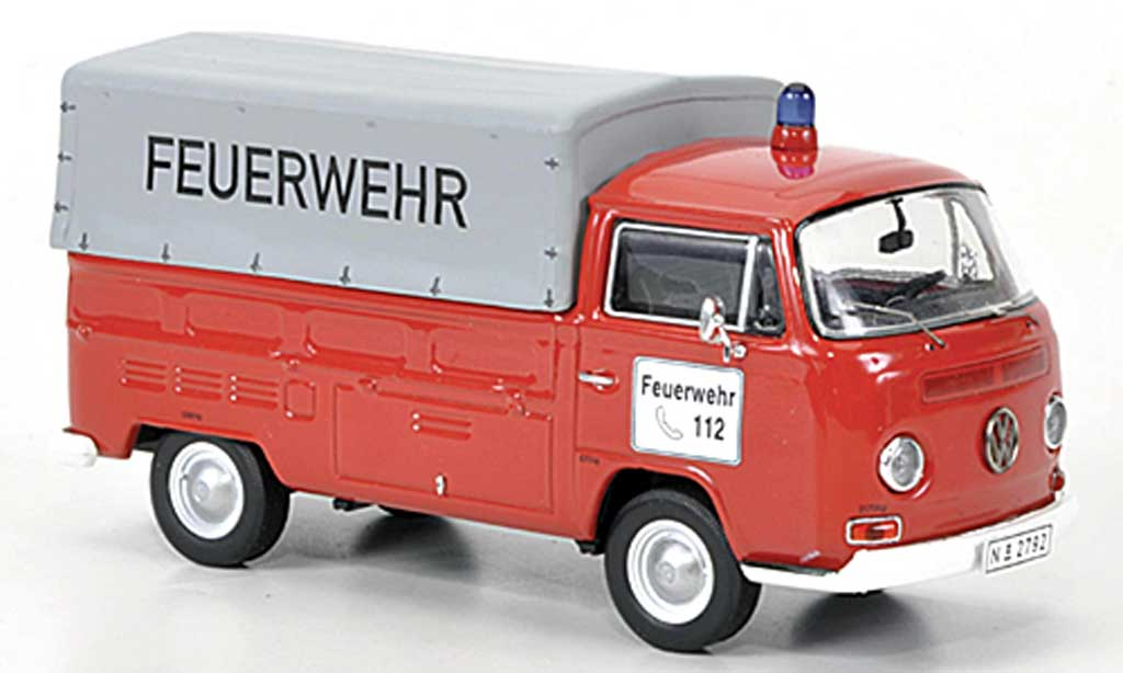 Volkswagen T2 A 1/43 Premium ClassiXXs Pritsche/Plane pompier diecast