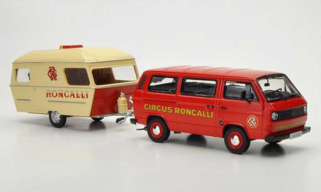 Volkswagen T3 1/43 Premium ClassiXXs a Bus mit Wohnanhanger Circus Roncalli diecast