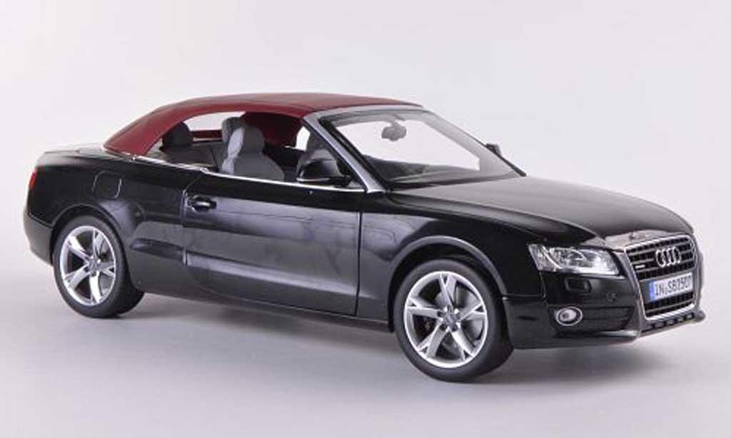 Audi A5 1/18 Norev Cabriolet noire  2009 miniature