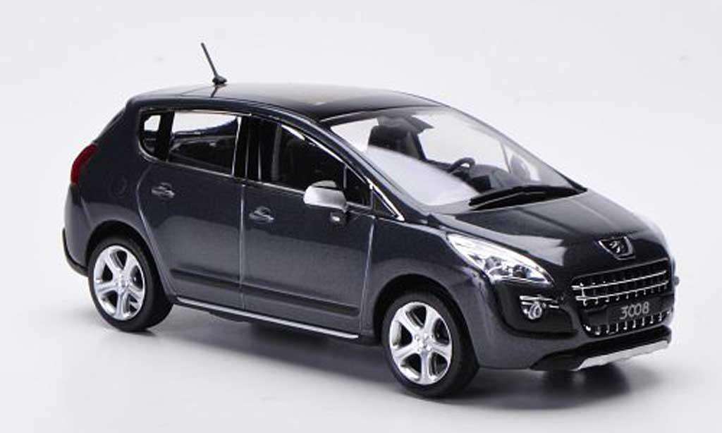 Peugeot 3008 1/43 Norev grise 2009 miniature