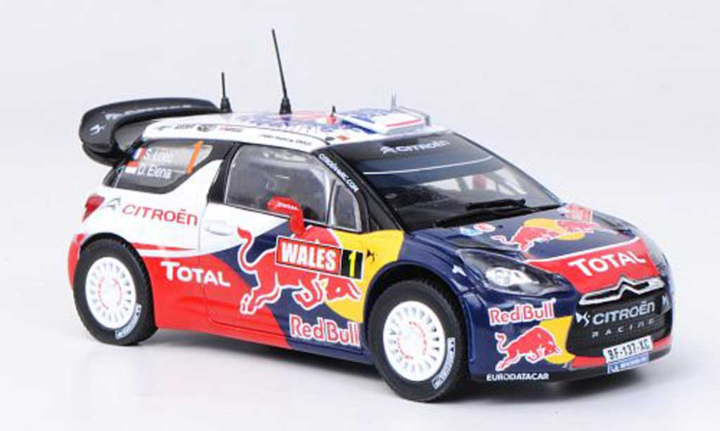 DS Automobiles DS3 WRC 2011 1/43 Norev WRC 2011 No.1 Red Bull - Total S.Loeb / D.Elena Rally Grossbritannien miniature