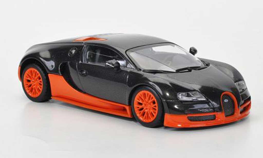 Bugatti Veyron Super Sport 1/43 Minichamps grey/orange avec Figur 2011 diecast model cars
