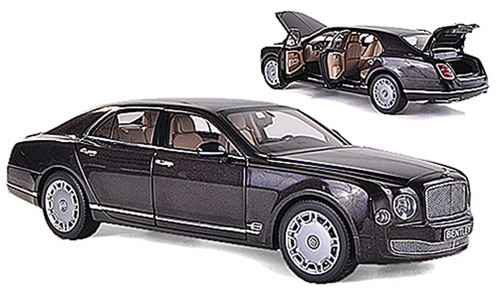 Bentley Mulsanne 2010 1/18 Minichamps marrone LHD miniatura