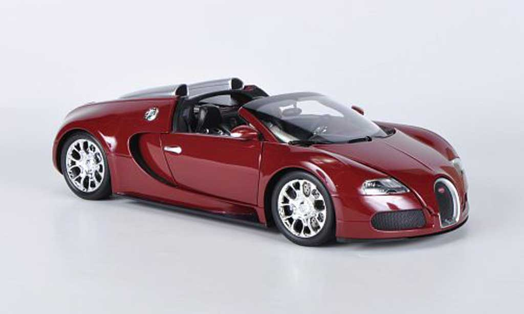 Bugatti Veyron Grand Sport 1/18 Minichamps rouge 2010 miniature