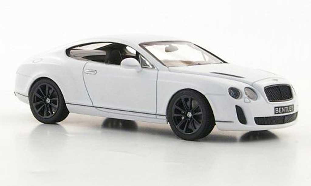 Bentley Continental 1/43 Minichamps Supersports mattblanche 2009 miniature