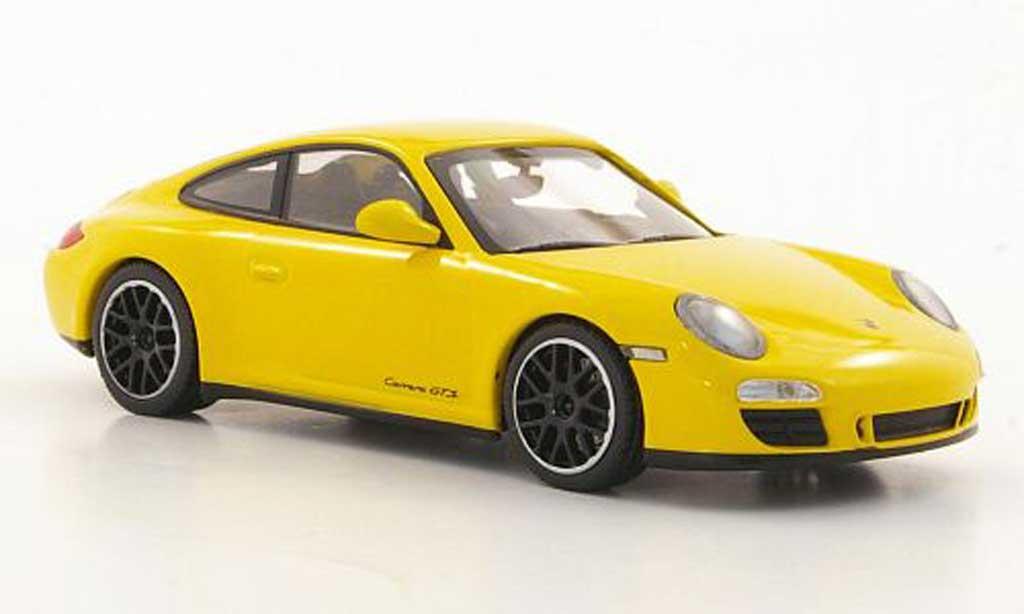 Porsche 997 GTS 1/43 Minichamps Carrera (II) jaune 2011 miniature