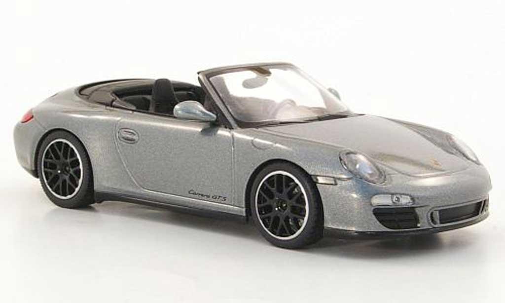 Porsche 997 GTS 1/43 Minichamps Cabriolet Carrera (II) grise 2011 miniature
