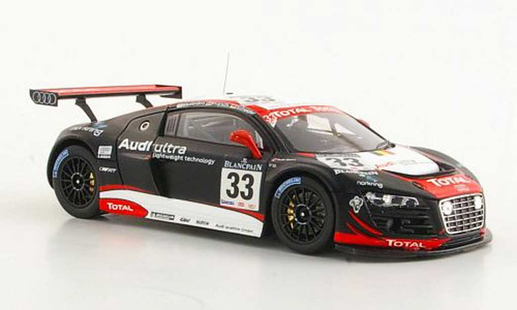 Audi R8 LMS 1/43 Spark No.33 Belgian Club Ekstrom / Franchi / Scheider 24h Spa 2011 modellino in miniatura
