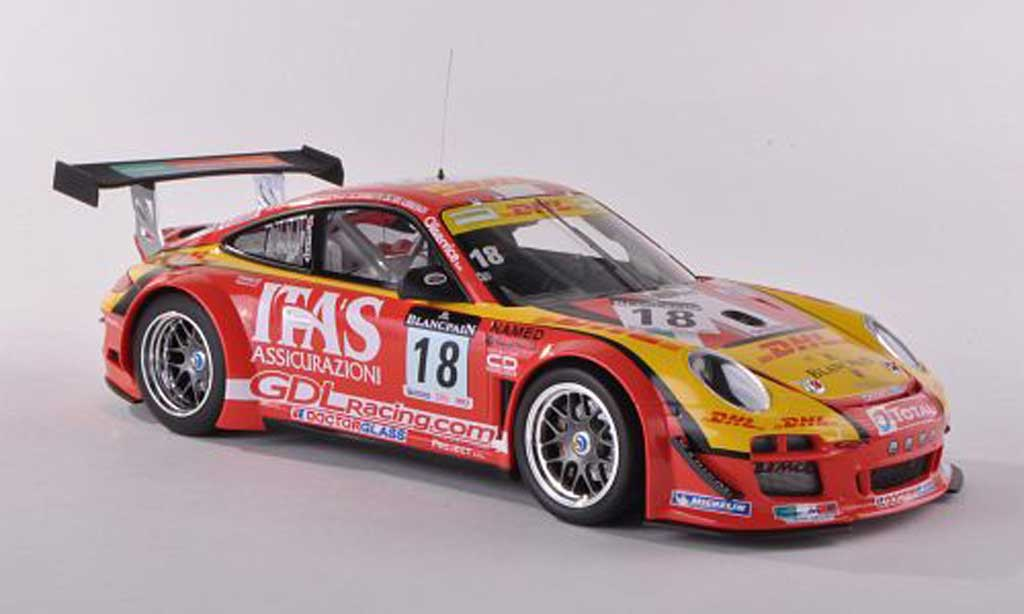 Porsche 997 GT3 1/18 Minichamps R 2011 No.18 DHL/Itas De Lorenzi Racing 24h Spa De Lorenzi/Bonetti/Caccia/Bontempelli diecast model cars