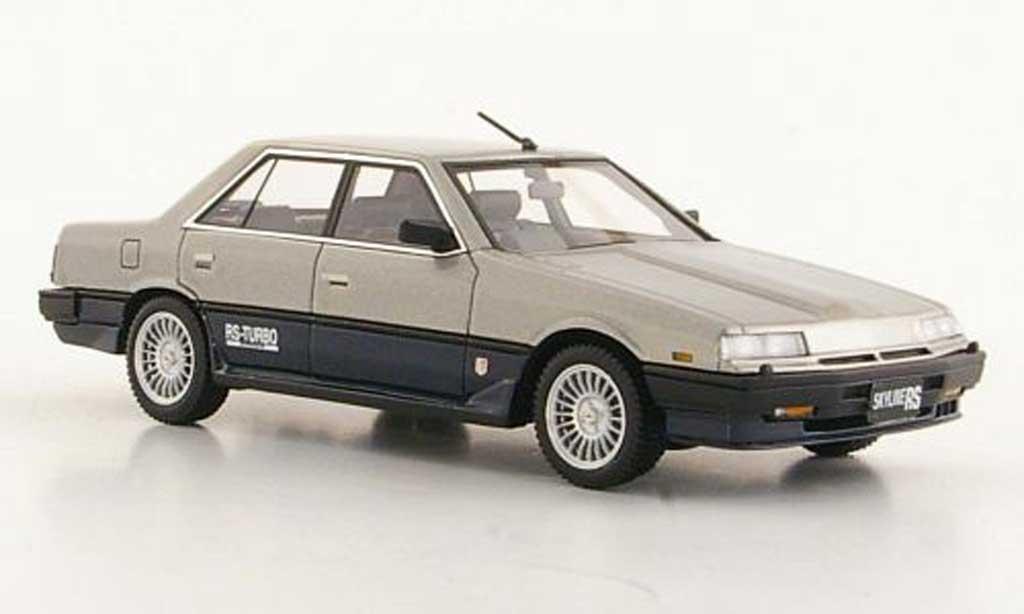 Nissan Skyline 2000 1/43 Hi Story Sedan Turbo -X grey grey/bleu RHD 1984 diecast model cars