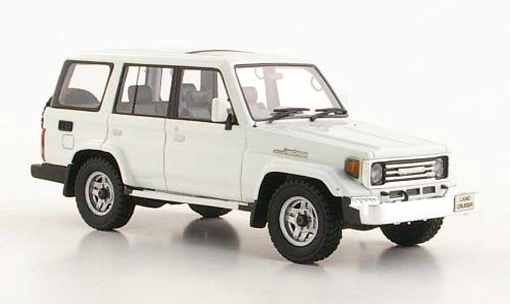 Toyota Land Cruiser 1/43 Hi Story 70 white RHD 1990 diecast model cars