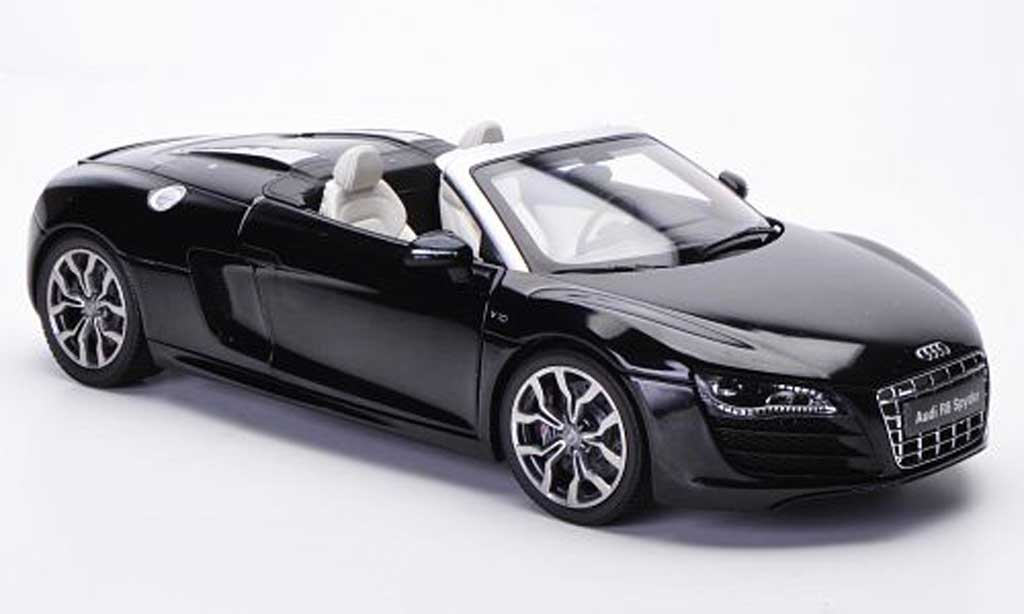 Audi R8 Spyder 1/18 Kyosho phantom black diecast model cars