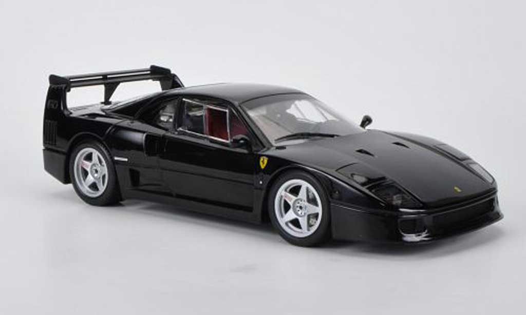Ferrari F40 LM 1/18 Kyosho Light Weight Wing nero miniatura