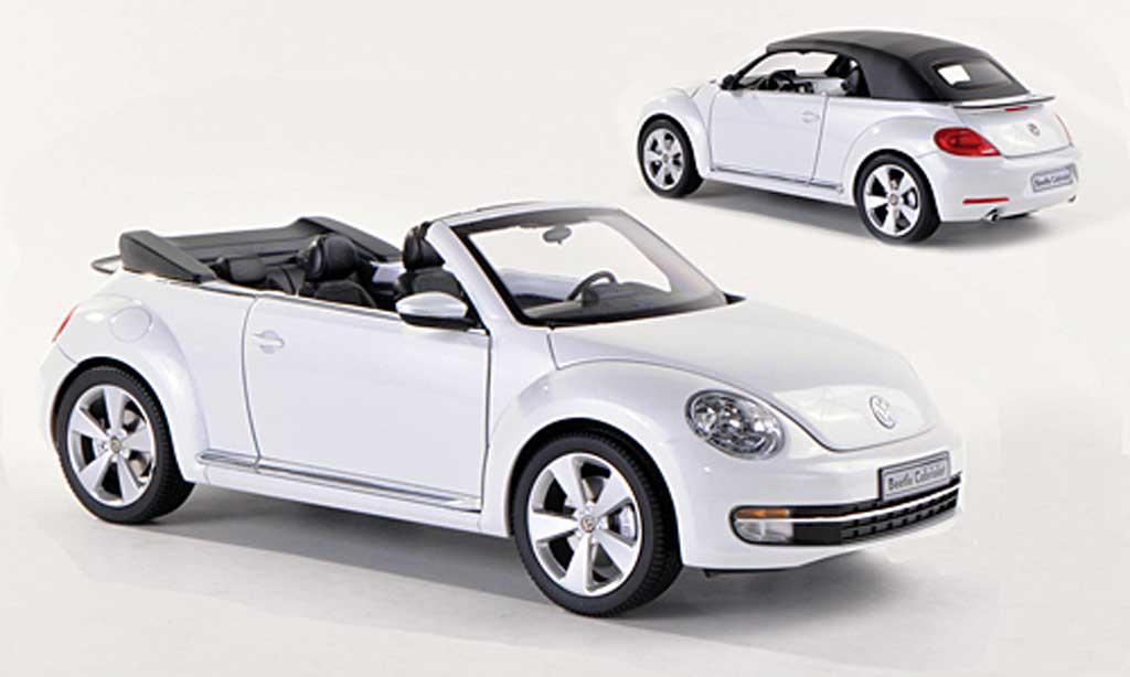 Volkswagen Beetle 1/18 Kyosho Cabriolet blanche miniature