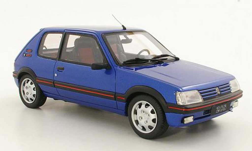 Peugeot 205 GTI 1/18 Ottomobile 1.9 Bleu Miami bleu miami miniature