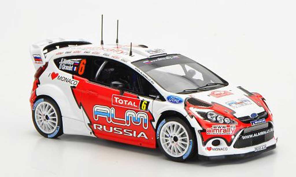 Ford Fiesta WRC 1/43 Spark No.6 ALM Russia Rally Monte Carlo 2012 miniature
