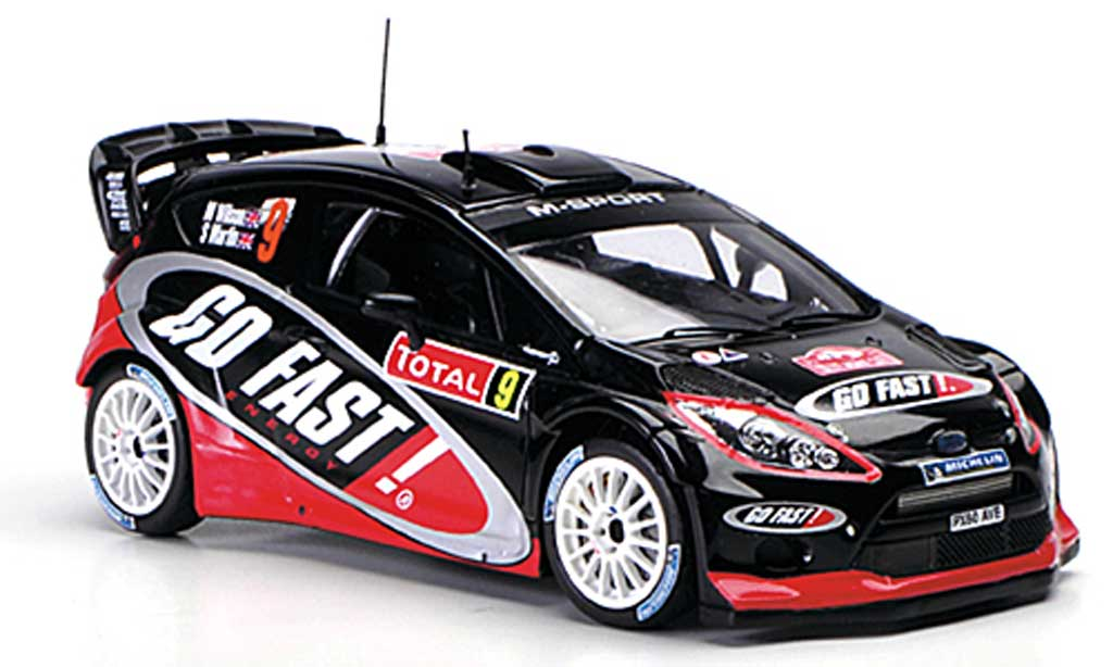Ford Fiesta WRC 1/43 Spark  No.9 Go Fast Rally Monte Carlo 2012 miniature