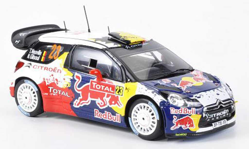 DS Automobiles DS3 WRC 2012 1/43 Spark No.23 Red Bull  Rally Monte Carlo miniature
