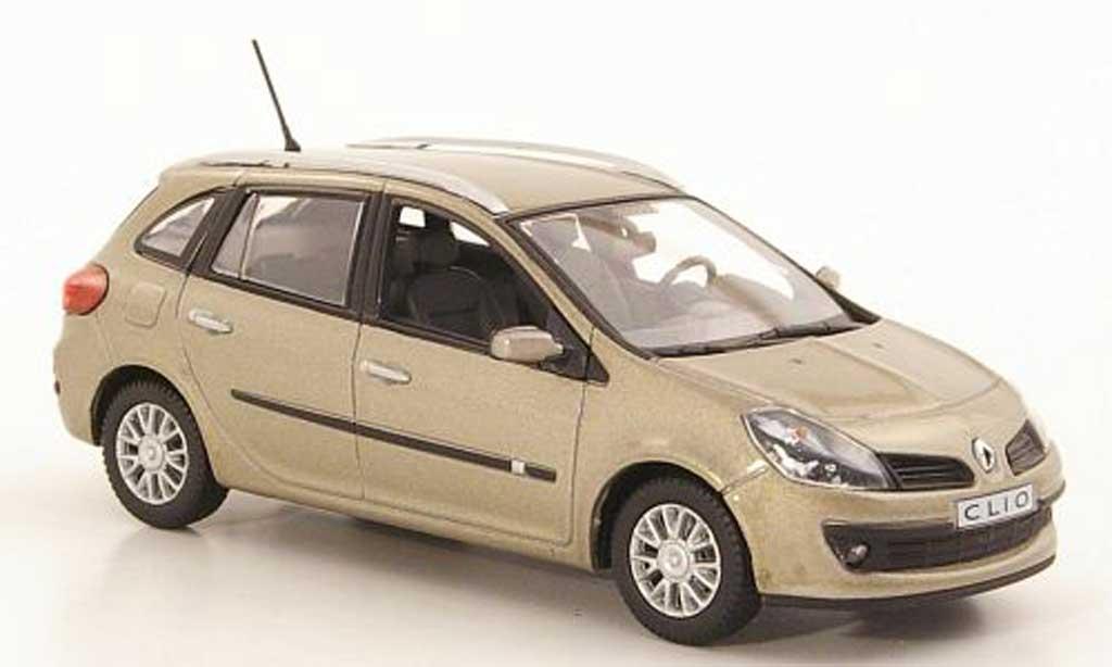 Renault Clio III 1/43 Norev Grandtour beige 2008 miniature