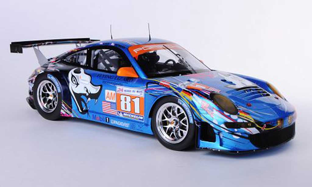 Porsche 997 GT3 RSR 1/18 Spark 2011 No.81 Flying Lizard Motorsport S.Neiman / D.Law / S.Pumpelly 24h Le Mans miniature
