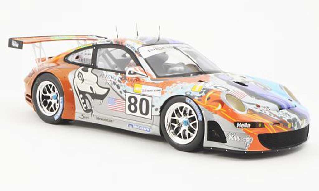 Porsche 997 GT3 RSR 2007 1/18 Spark No.80 Team  Flying Lizard Motorsport 24h Le Mans S.Neiman/J.Van Overbeek/J.Bergmeister Hauben miniature