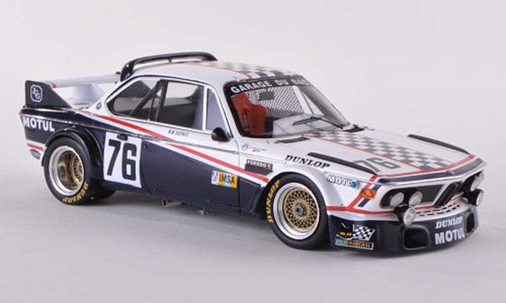 Bmw 3.0 CSL 1/43 Spark No.76 garage du Bac 24h Le Mans 1977 DEPNIC/J.Coulon miniature