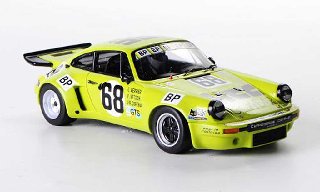 Porsche 930 1/43 Spark Carrera No.68 G.Verrier / F.Vetsch / J.-R.Corthay 24h Le Mans 1975 miniature